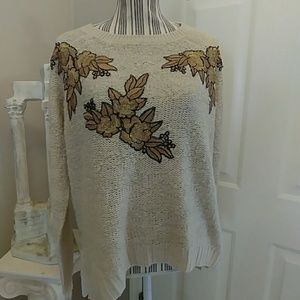 Ella Moon High Low Sweater with Applique